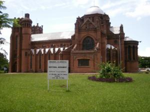 Historische Backsteinkirche in Blantyre