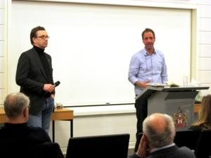 Foto vom Leiter der Antidiskriminierungsstelle, Dr. Behrendt, und vom Referenten, Dr. Terkessidis