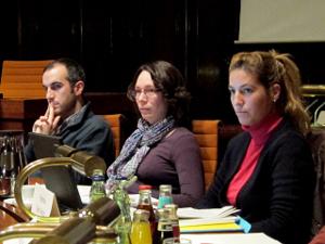Die Ratsmitglieder Onay, Markowis und Arikoglu