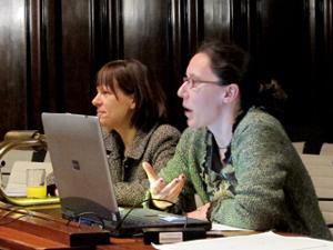 Dr. Silke Mardorf und Anne Kehrein