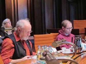 Die Ratsherren Engelke und Hillbrecht