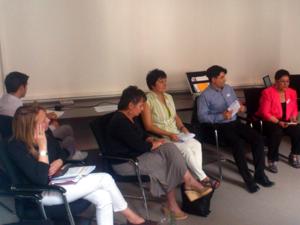 """Foto von einigen Teilnehmerinnen und Teilnehmern des Workshops """"Elternmitwirkung in Schulgremien"""""""
