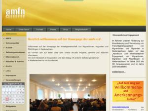 Screenshot der Homepage von Amfn e.V. (19.08.2014)