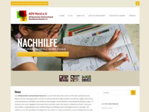 Screenshot der Homepage des Afrikanischen Dachverbands e.V