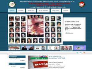 Screenshot der Homepage der Alevitischen Gemeinde Hannover und Umgebung e.V
