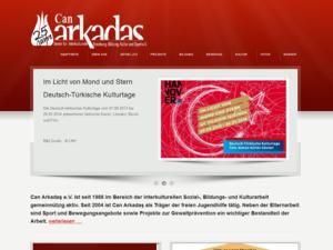 Screenshot der Homepage von Can Arcadas e.V.