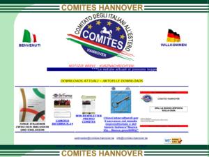 Screenshot der Homepage von Comites Hannover e.V.