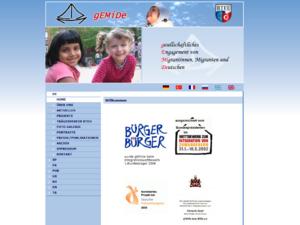 Screenshot der Homepage von Gemide