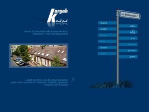 Screenshot der Homepage von Kargah e.V.