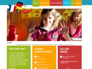 Screenshot der Homepage Kleine Gallier e.V.
