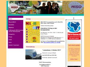 Screenshot der Homepage des MiSO-Netzwerkes