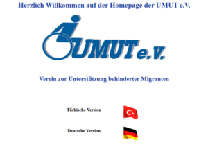 Screenshot der Homepage von Umut e.V.