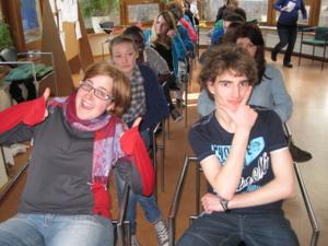 Jugendliche bei einem Seminar im Rahemen einer Internationalen Begegenung