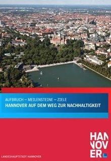 """Cover der Broschüre """"Hannover auf dem Weg zur Nachhaltigkeit"""""""