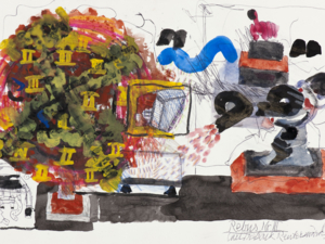 Eine Zeichnung von Carl Fredrik Reuterswärd.