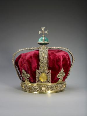Eine prunkvoll verzierte Krone.