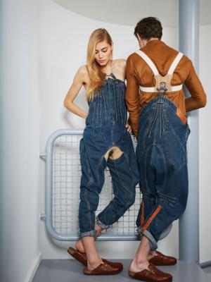 Frau und Mann in Designerjeans