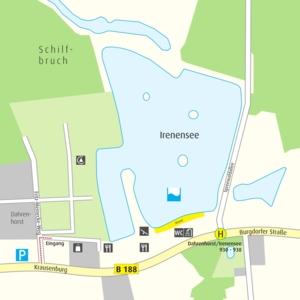 Anfahrtskizze Irenensee