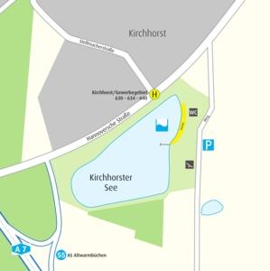 Anfahrtskizze Kirchhorster See