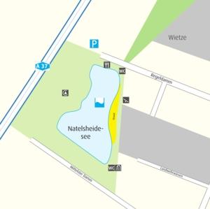 Anfahrtskizze Natels-Heidesee