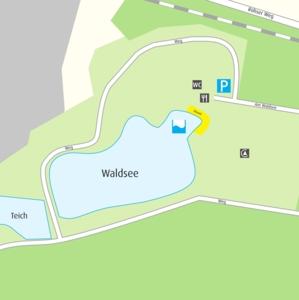 Anfahrtskizze Waldsee im Hainwald