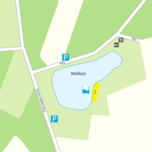 Anfahrtskizze Waldsee Krähenwinkel