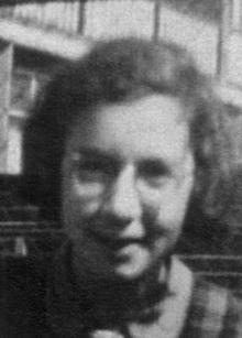 Ruth Herskovits in Leiden, April 1941. Quelle: Ruth Gutmann