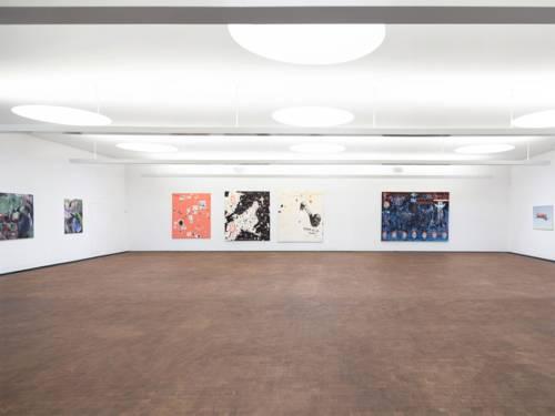 Installationsansicht der Ausstellung Malerei