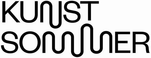 Schriftzug schwarz auf weiß: Kunstsommer