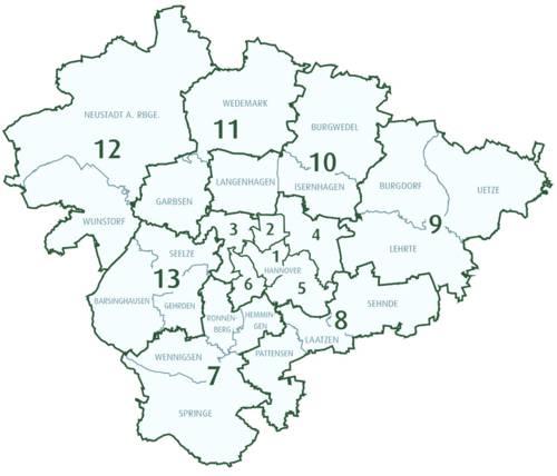 Wahlbereiche 2021