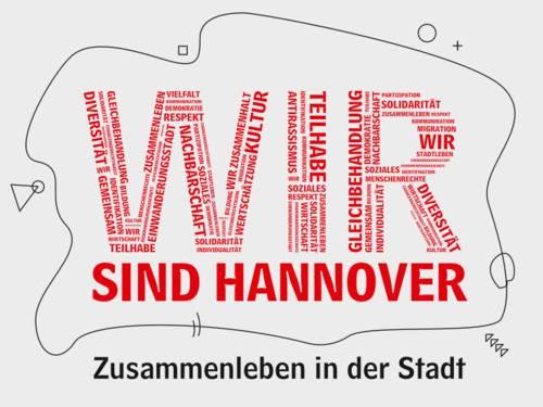 """Schriftzug """"WIR sind Hannover"""""""