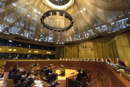Sitzungssaal des Europäischen Gerichtshofes