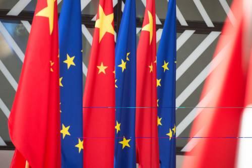 EU and China flags