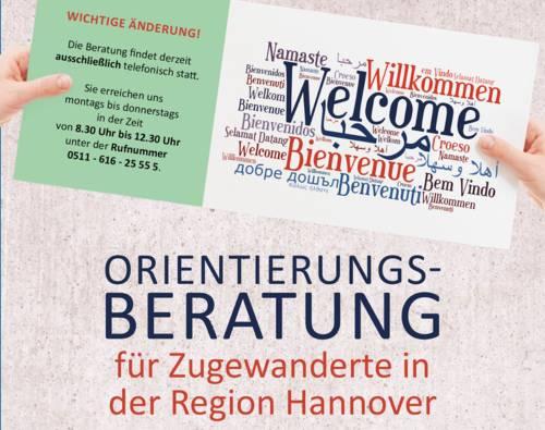 Orientierungsberatung für Zugewanderte in der Region Hannover