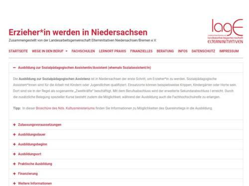 Vorschau auf http://erzieher-in-niedersachsen.de/sozialpaedagogische-assistentin-assistent-werden/
