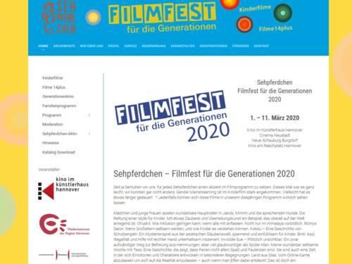 Vorschau auf die Internetseite www.filmfest-sehpferdchen.de