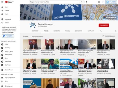 Vorschau auf den Kanal der Regionsverwaltung Region Hannover auf YouTube