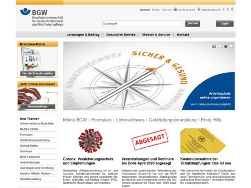 Vorschau auf bgw-online.de