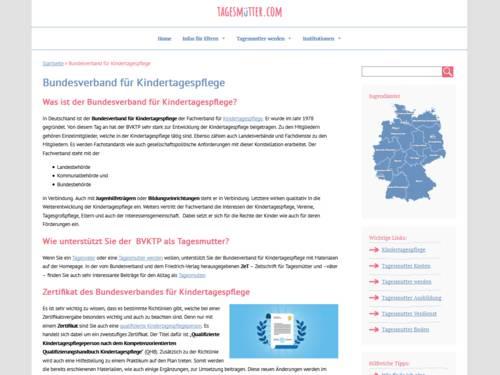 Vorschau auf tagesmuetter.com