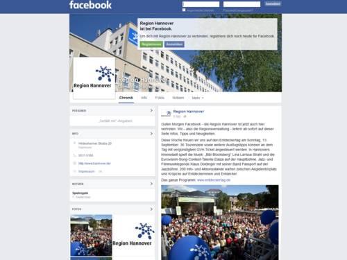 Vorschau auf die Webseite facebook.com/hannoverregion