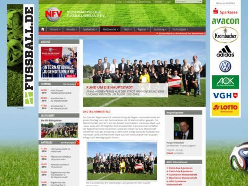 Vorschau auf die Webseite nfv.de