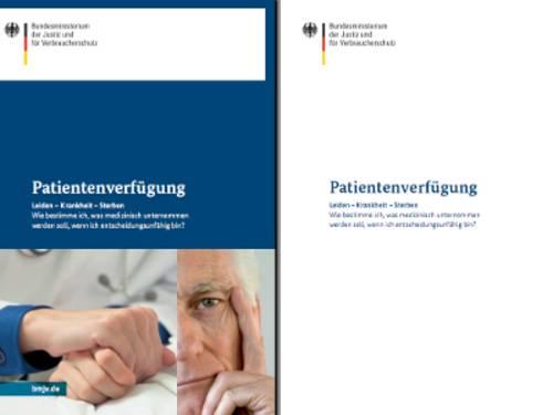 """Vorschau auf die Broschüre """"Patientenverfügung"""" des Bundesministeriums der Justiz und für Verbraucherschutz (BMJV)"""