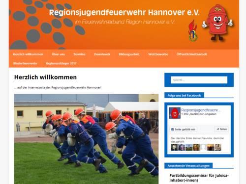 Vorschau auf die Webseite der Regionsjugendfeuerwehr Hannover e.V.