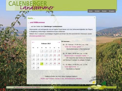 Vorschau auf die Webseite www.calenberger-landsommer.de