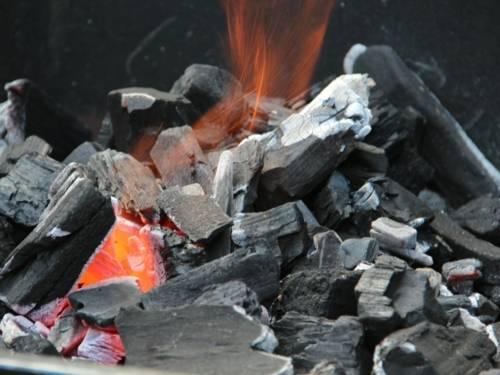 Grillstelle mit Kohle