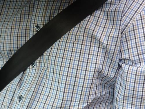 Ein angelegter Sicherheitsgurt im Auto