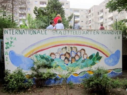 Bilder von der Sitzung des Internationalen Ausschusses in den Internationalen Gärten am 5. Juli 2012.