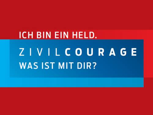 Plakatkampagne zur Zivilcourage