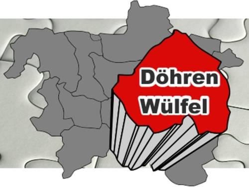 Umriss von Hannover. Hervorgehoben ist der Stadtbezirk Döhren-Wülfel