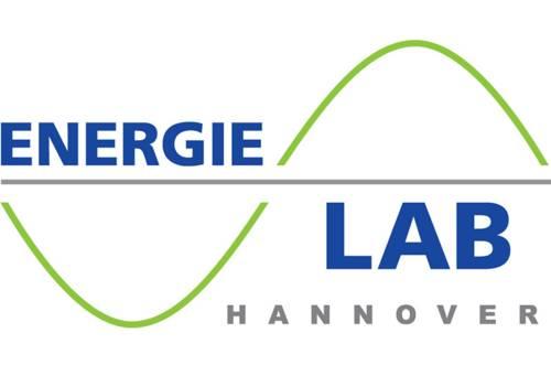 Das Logo des Energie-LAB Hannover zeigt ein Diagramm mit einer Kurvenfunktion